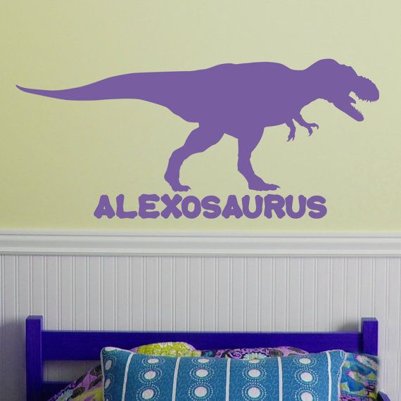 Large Custom Dinosaur Name With Tyrannosaurs Rex T Rex X - Custom vinyl wall decals dinosaur