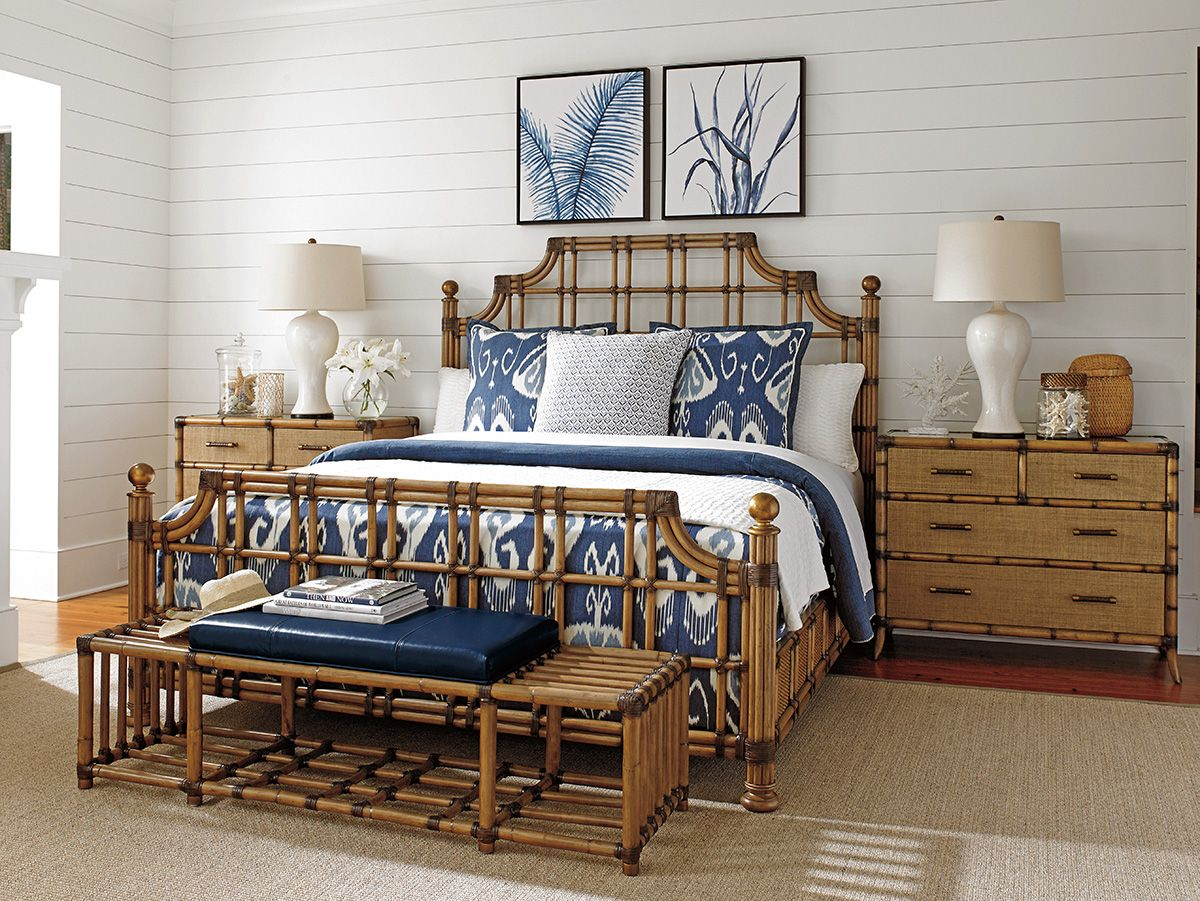 Lexington Bedroom Sets Adorable Twin Palms Stkitts Rattan Bed  Lexington Home Brands Decorating Design