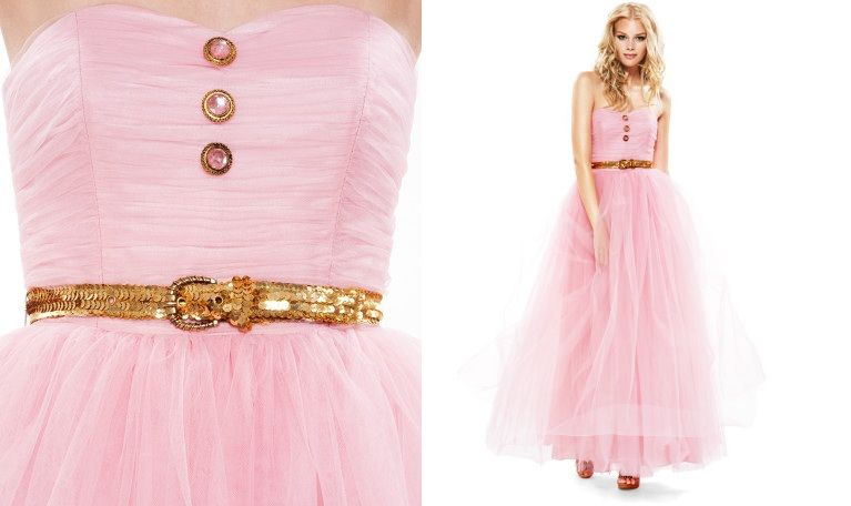 fluffy pink betsey johnson wedding or prom dress | Long Dress ...
