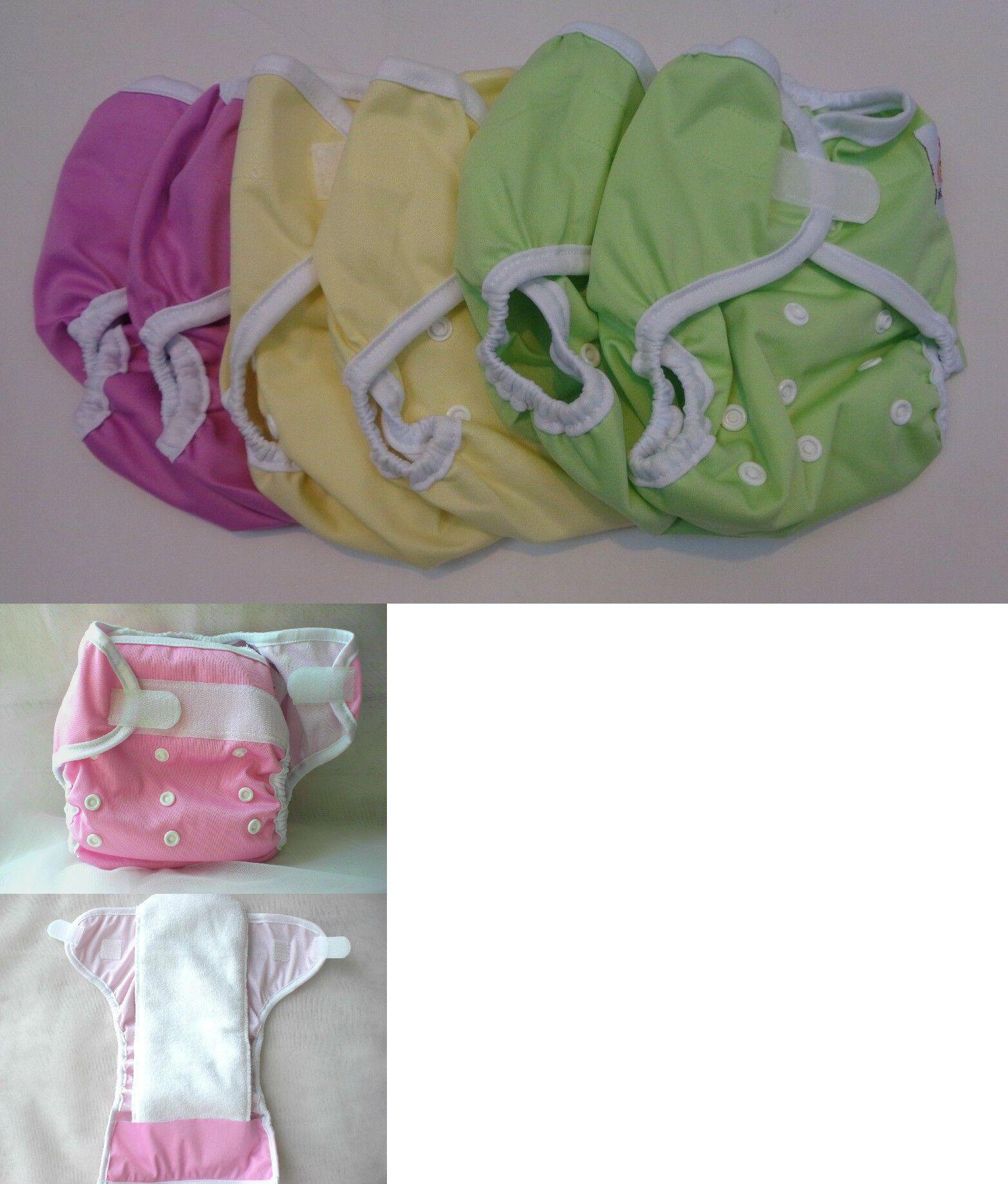 Lot of 6 Kawaii One Size Happy Leak-Free Hook /& Loop Diaper Covers