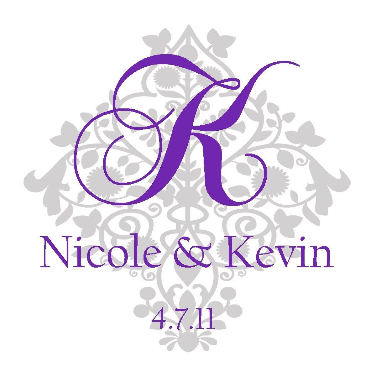 images of bridal logos  Wedding Monogram  Damask Wedding