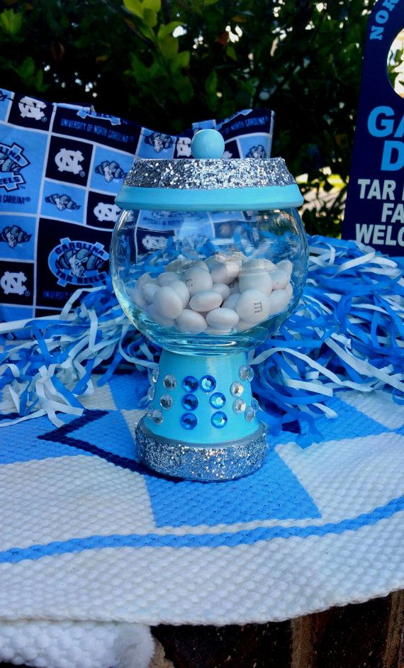 UNC Glam Gumball Jar by thewhimsybox on Etsy
