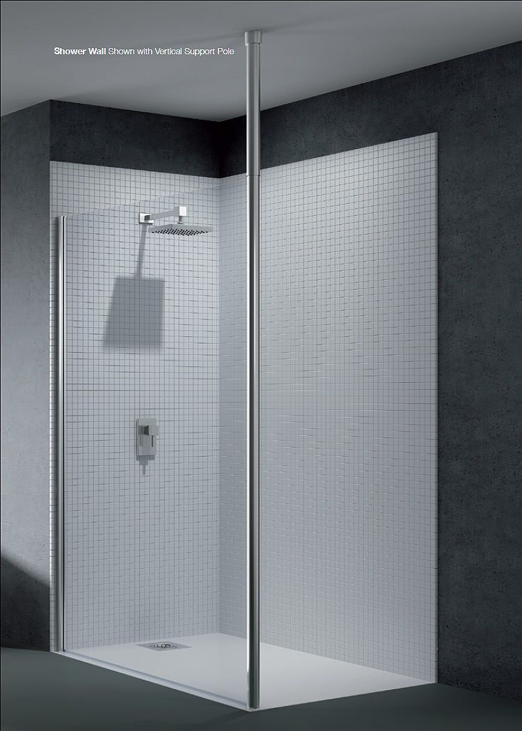 Merlyn 6 Series Wetroom Shower Panel 1200mm With Horizontal Pole ...