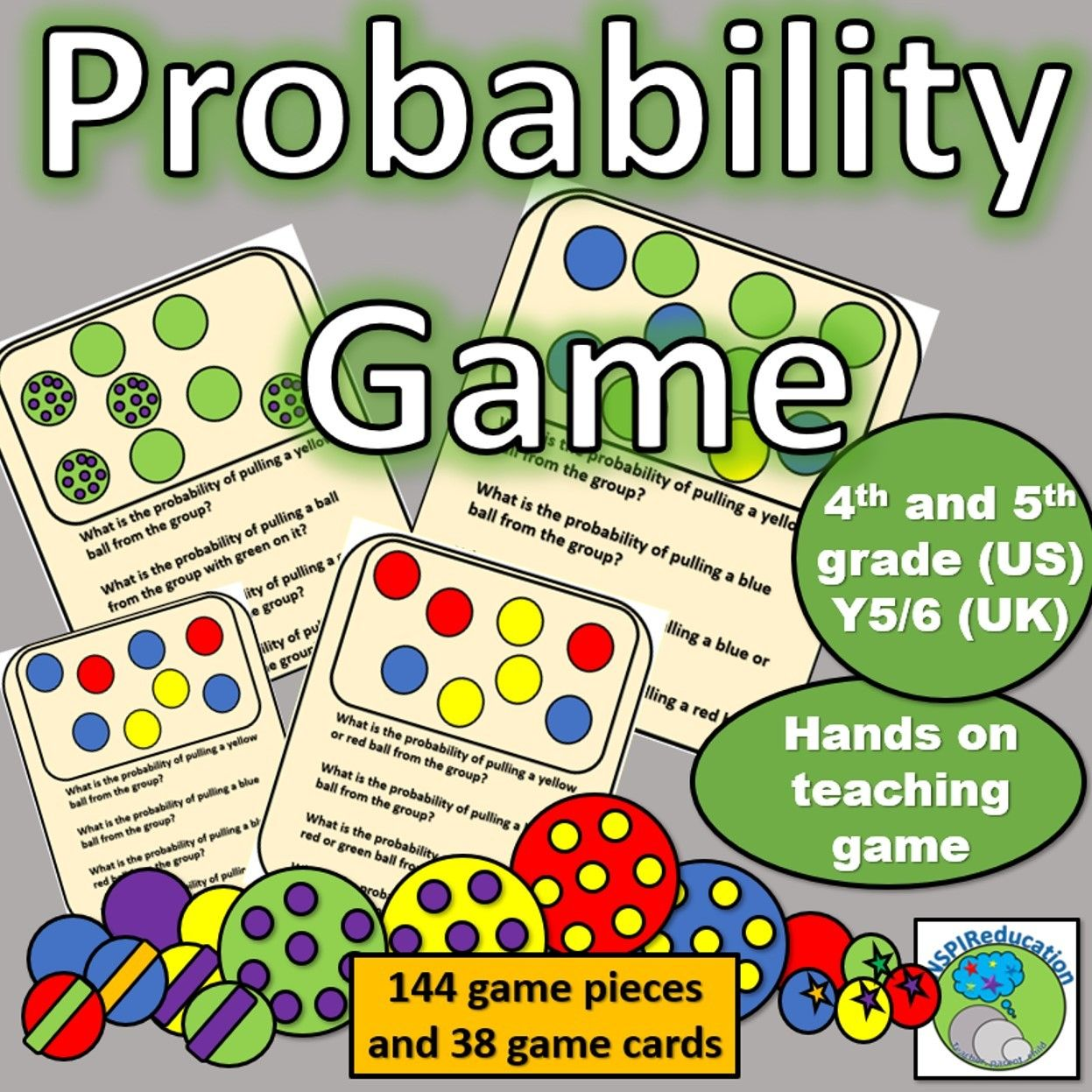 Probability Game Vocabulary, Fraction, decimal and