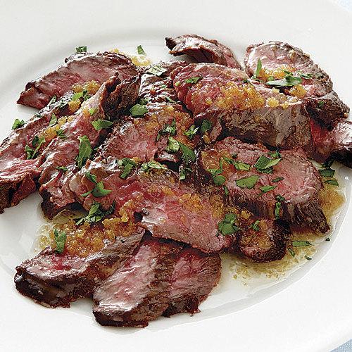 Brazilian Skirt Steak with Golden Garlic Butter Recipe - Recipe - FineCooking