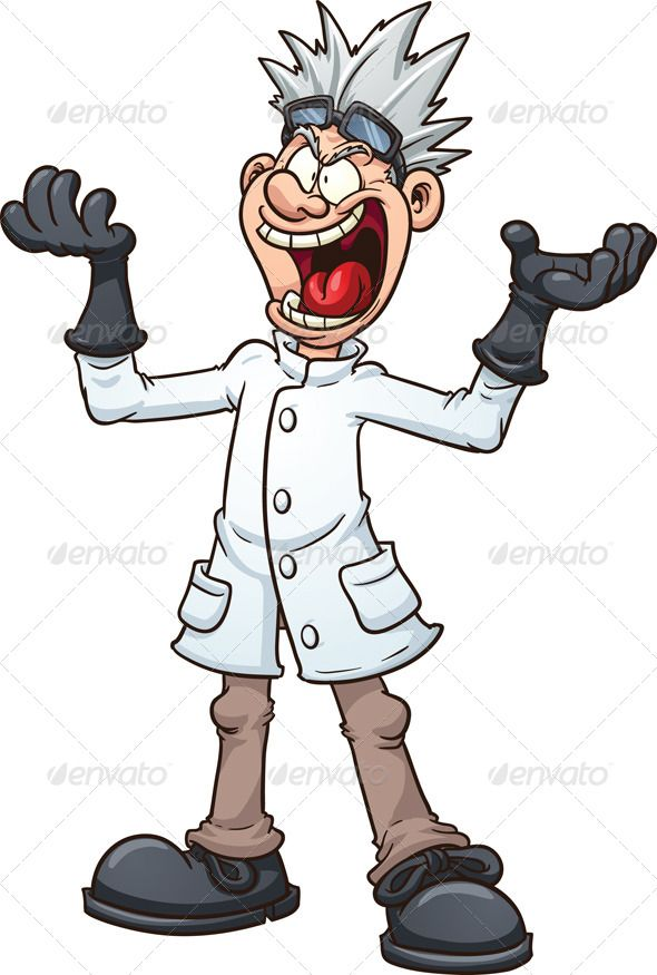 Cartoon Characters Evil : Mad scientist cartoon scientists and