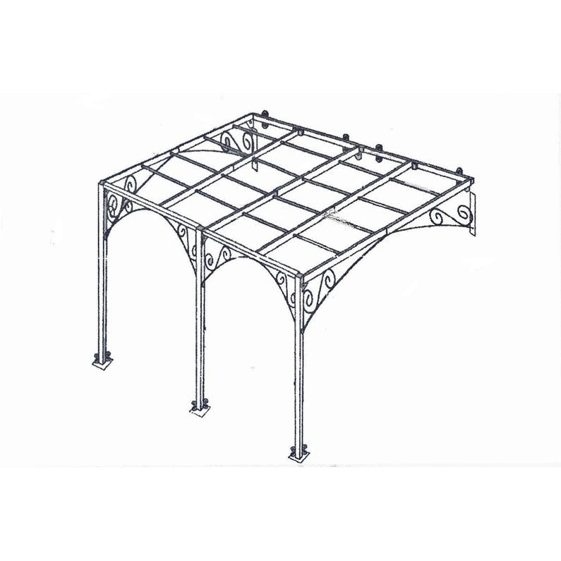 Pergola Adossee Andalouse Fer Forge Rouille 12 M Leroy Merlin Pergola Fer Forge Pergola Pergola Fer