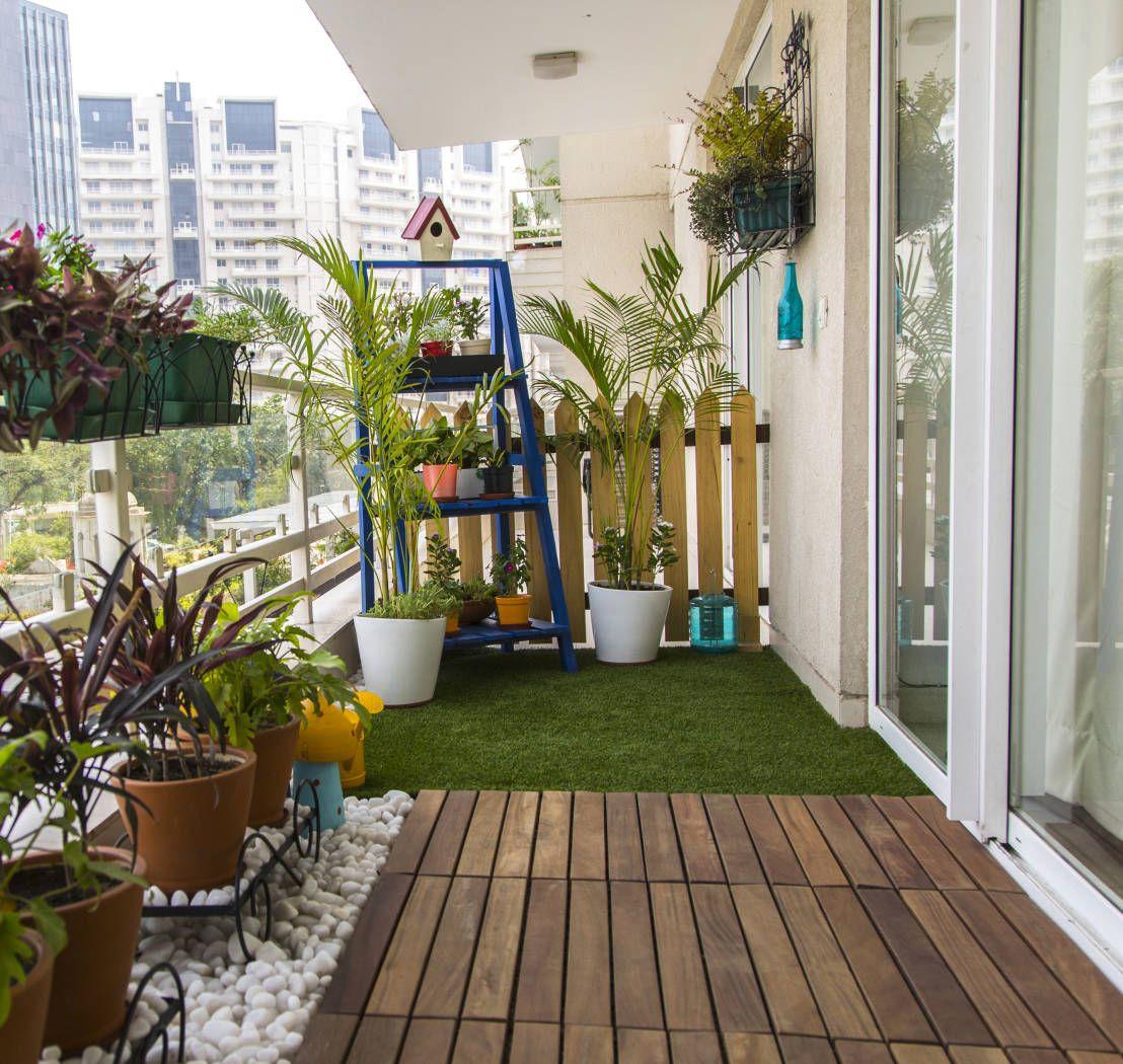 Decoration ideas for boring balconies!  Small balcony garden