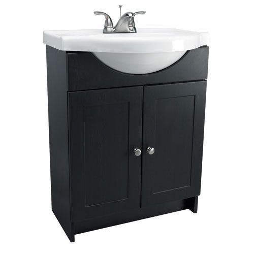 Vanity Combo 30 Inch Espresso Vanity Cabinet With Solid White
