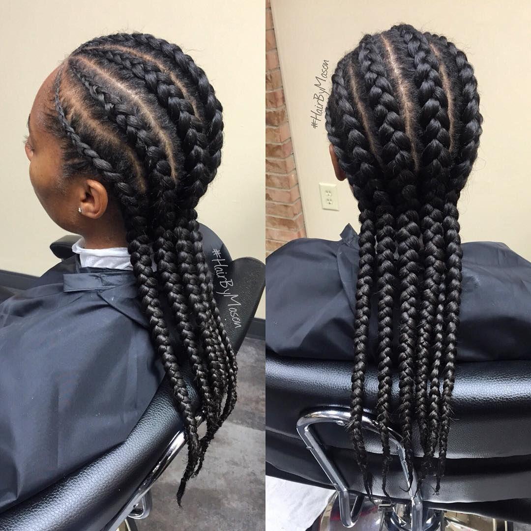 Straight backs | #braids #frenchbraids #straightbacks #protectivestyles #hairbymason | Hair ...