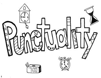 Character Ed Punctuality Coloring Page Coloring Pages Phonics