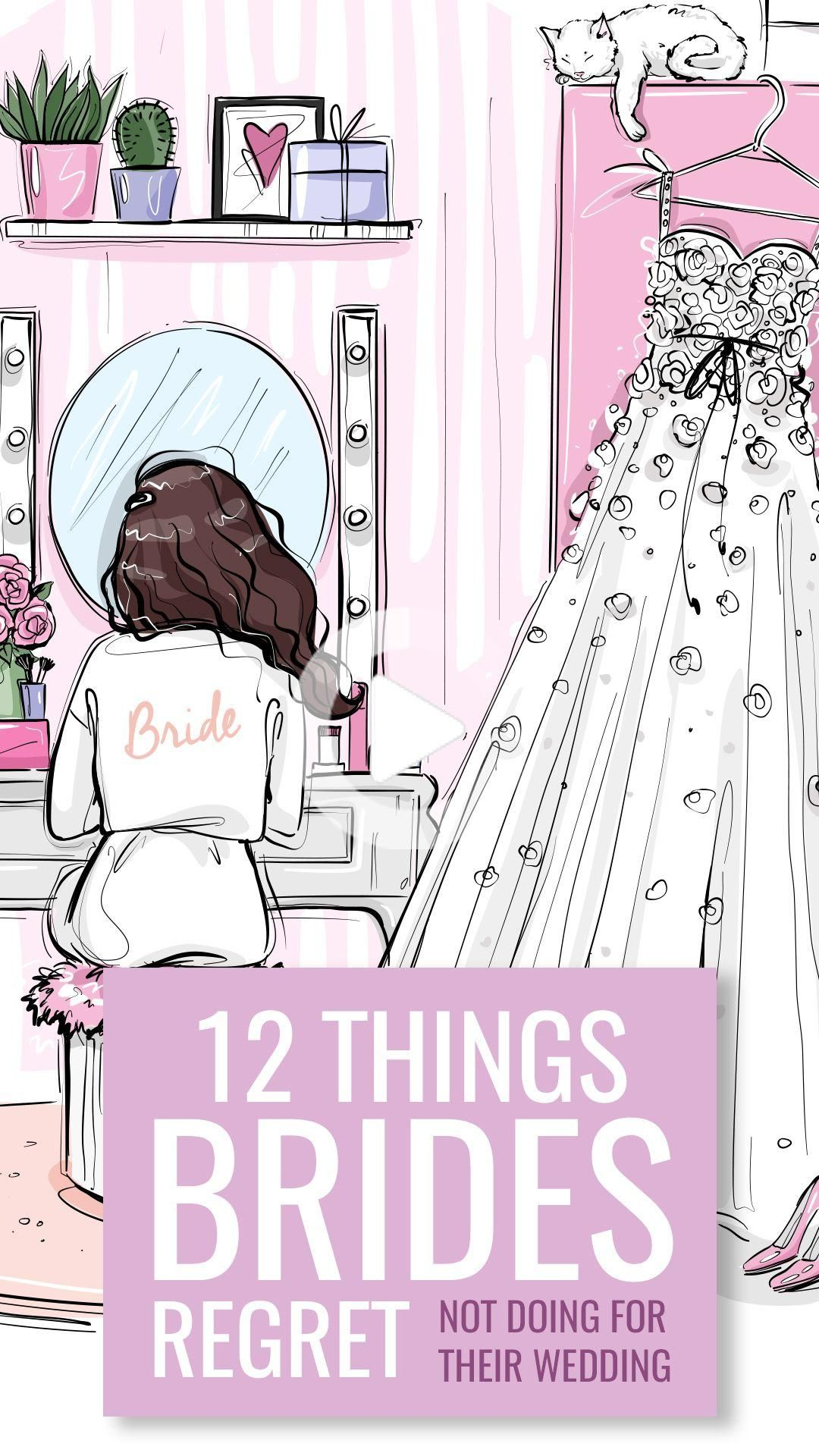 Wedding days are filled with many do's and don'ts but there are few things that brides regret not do...