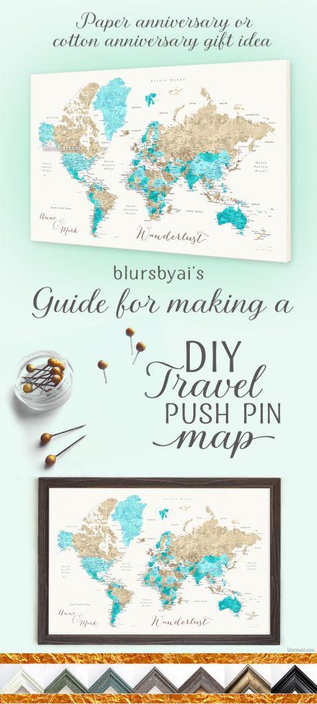 Making A Diy Travel Push Pin Map With One Of Blursbyai S Printable