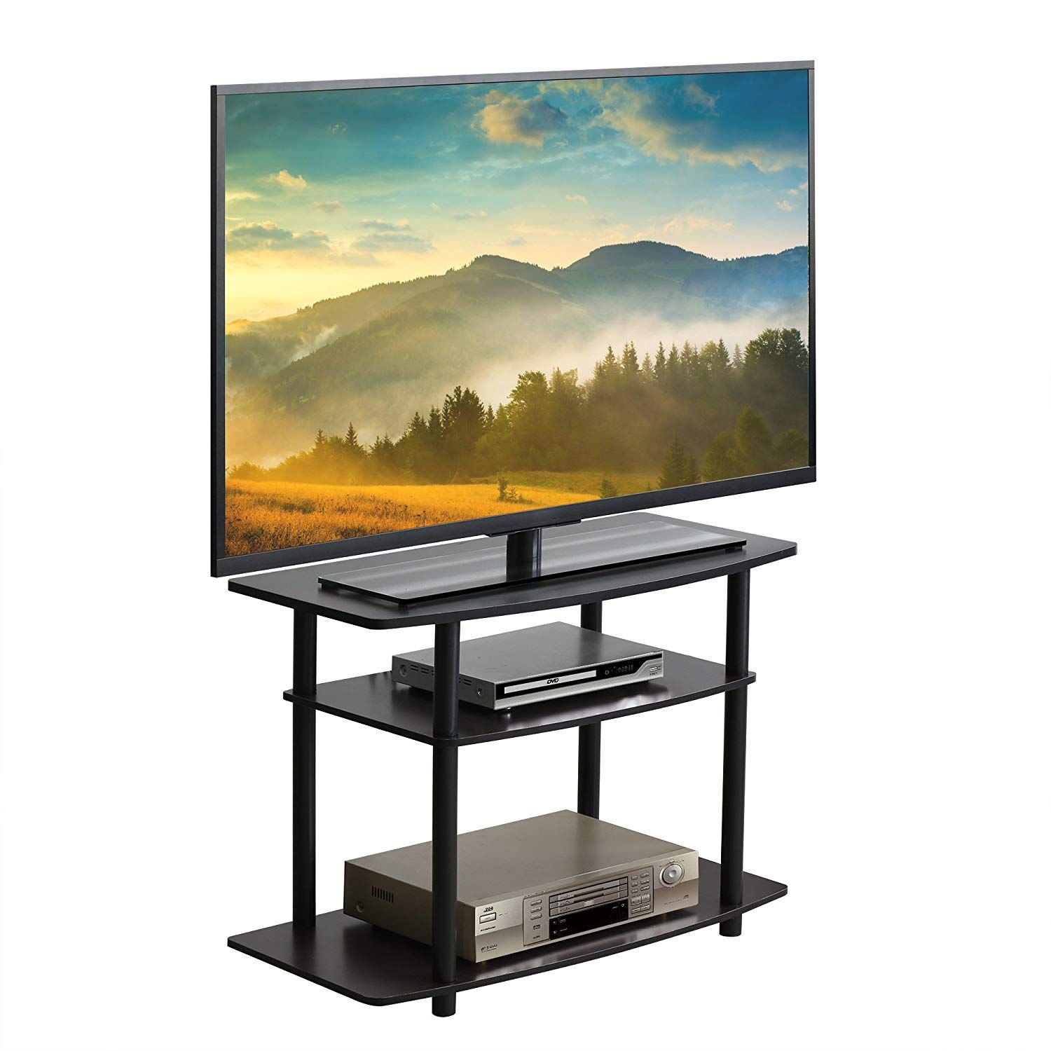 Furevol Arau 3 Tier Tv Stand For Tv Up To 40 Inch Mocha Espresso 3 Tier Tv Stand Tv Stand Luxury Tv Stand