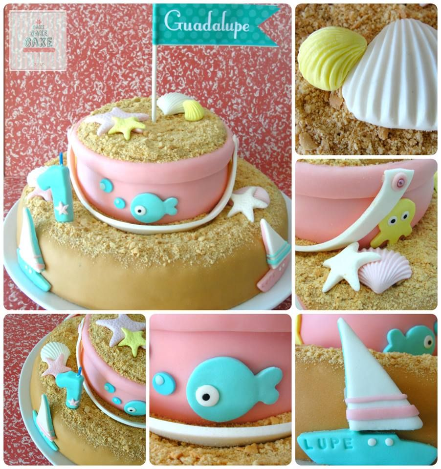 Sea and Beach First Birthday Cake made by Cake Cake Cake