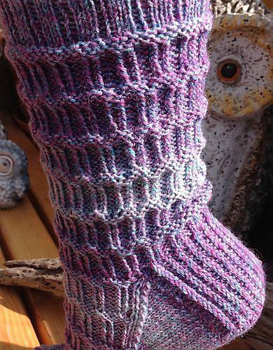 Socken Mit Leichtem Rechts Links Muster Stricken Häkeln Und
