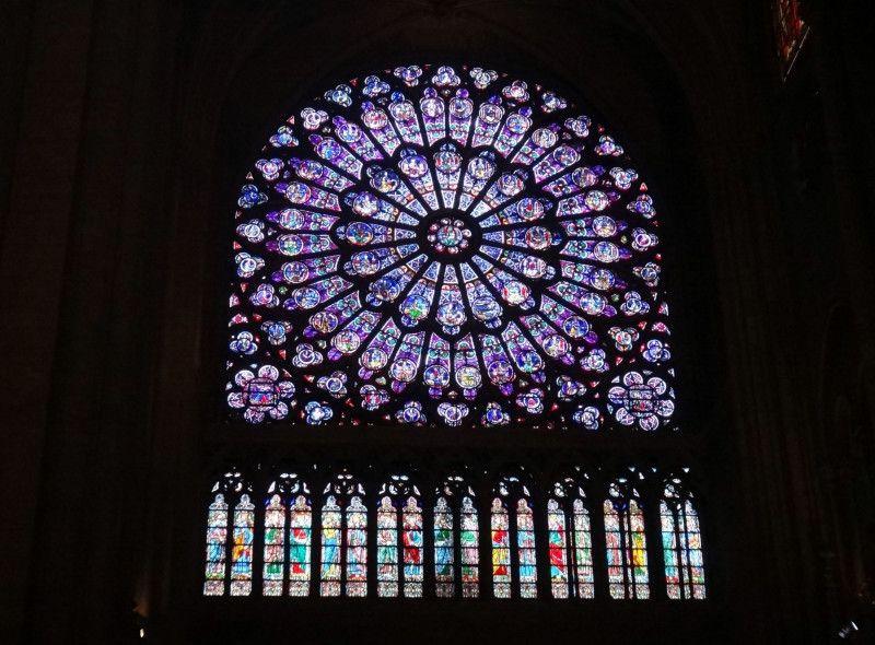 Vitrais Da Catedral De Notre Dame De Paris Rose Window Stained Glass Stained Glass Windows