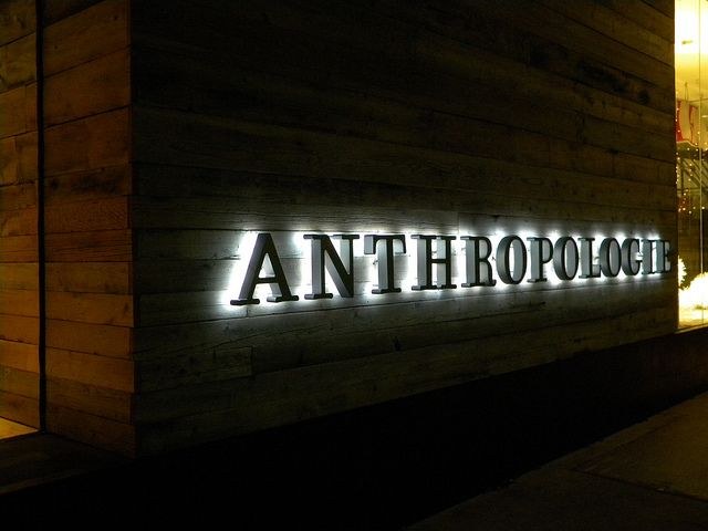 Utica Sq Anthropologie sign in 2020 | Cafe signage, Signage ...