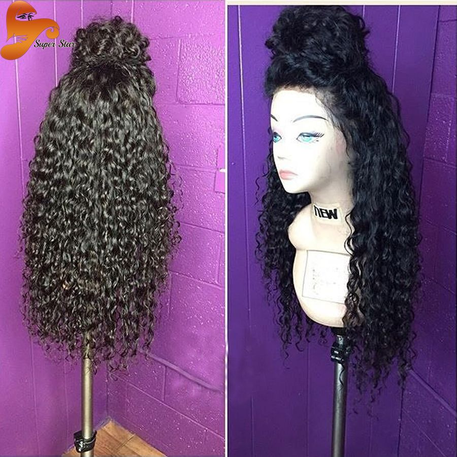 Brazilian curly full lace wigs unprocessed virgin hair glueless full