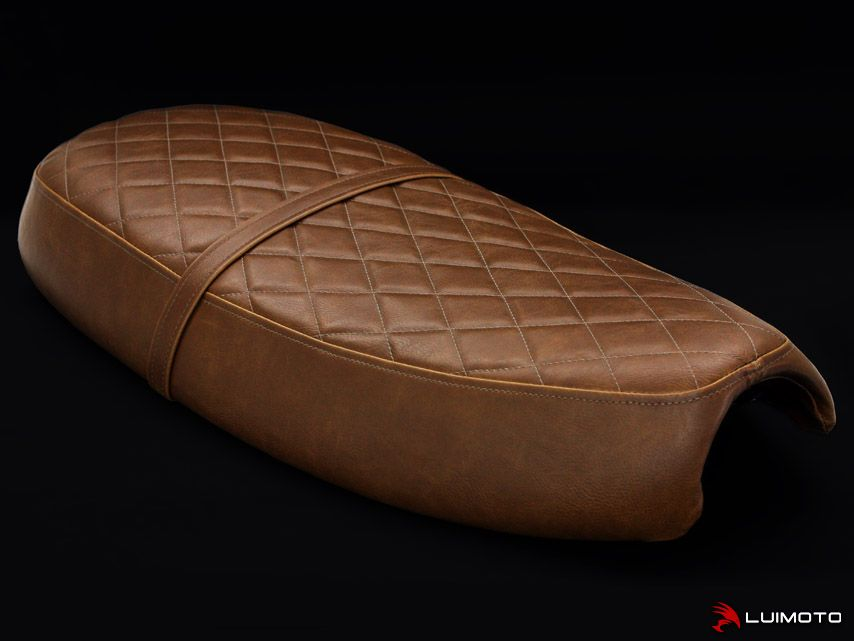 Vintage motorcycle seat brown