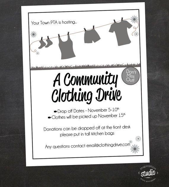 Clothing Drive School Church Or Organization Custom Flyer  Black