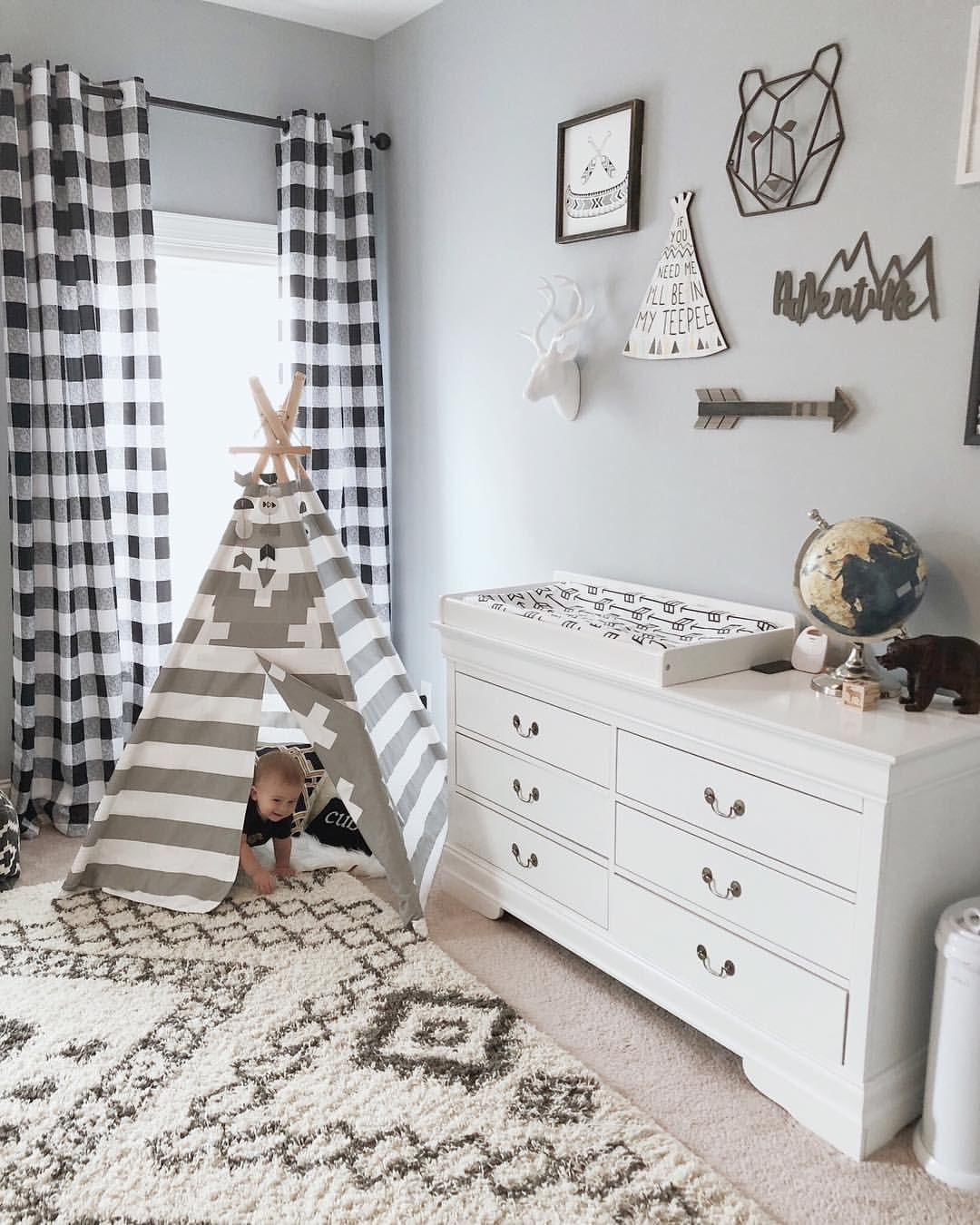"Rachael on Instagram: ""I have big plans this week to shop for dining room fall decor but until then, another nursery picture will have to do. Our house is also…"""