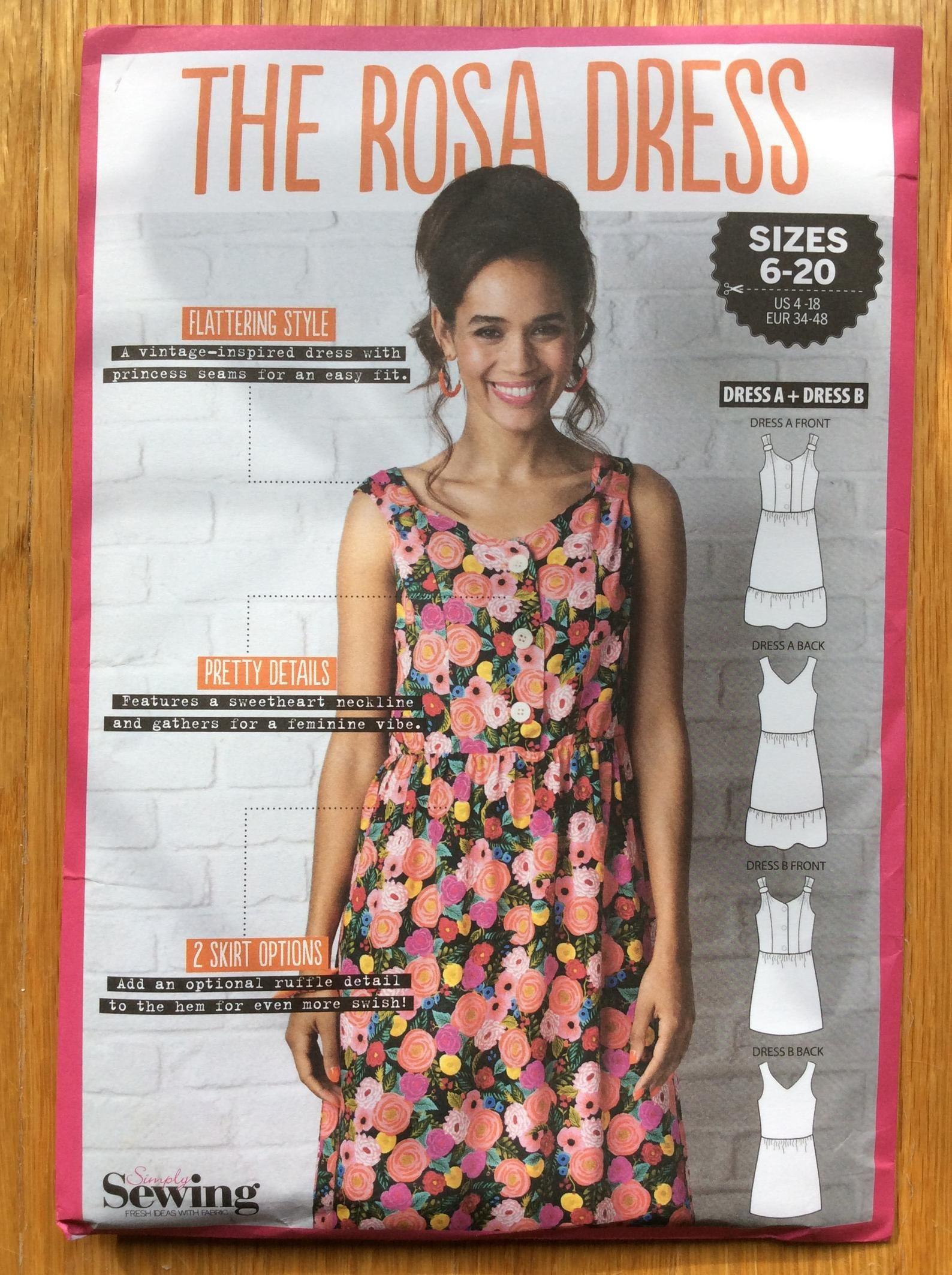 Misses Dress Pattern The Rosa Dress Uncut Size 4 6 8 10 12 14 Etsy Miss Dress Dresses Flattering Fashion [ 2126 x 1588 Pixel ]