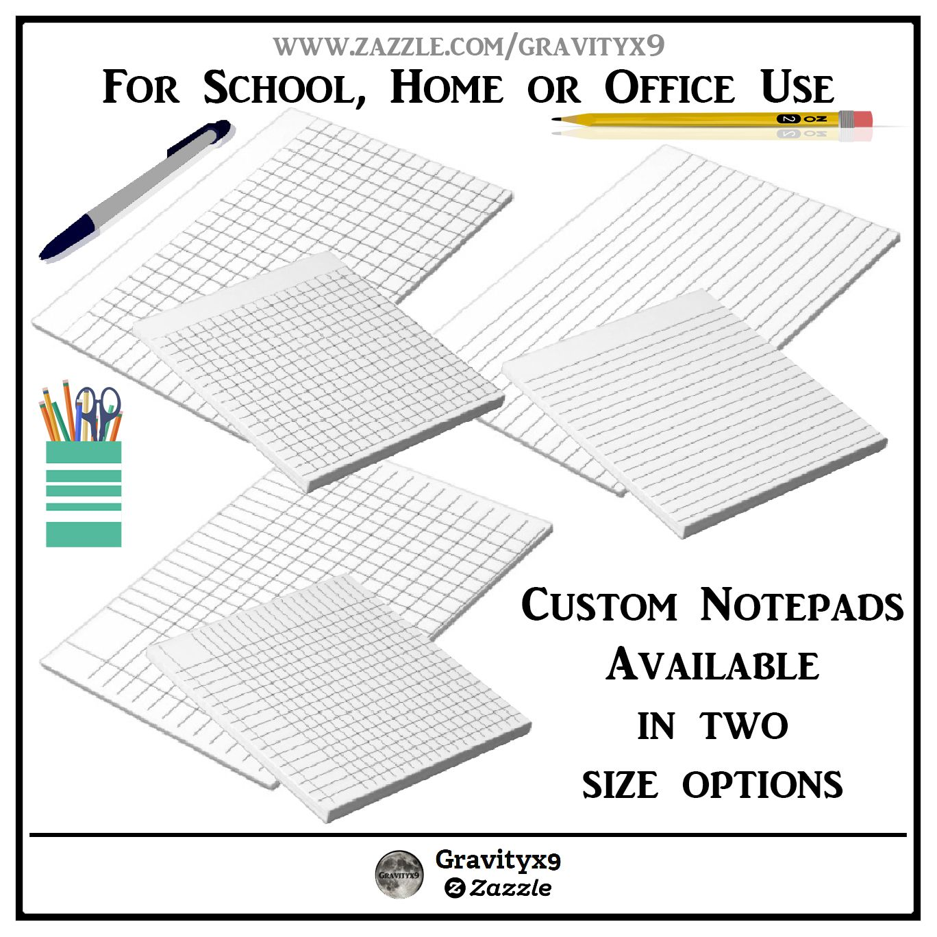 lined guides and graph paper notepads by gravityx9 at zazzle lined