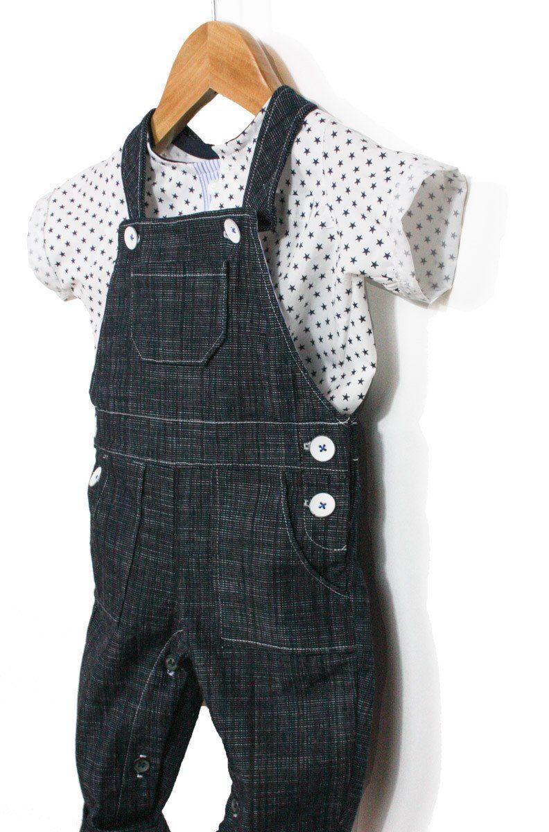 393232083b8b9 Patron de Couture PDF à télécharger. Bébé mixte. 6 à 24 mois La salopette