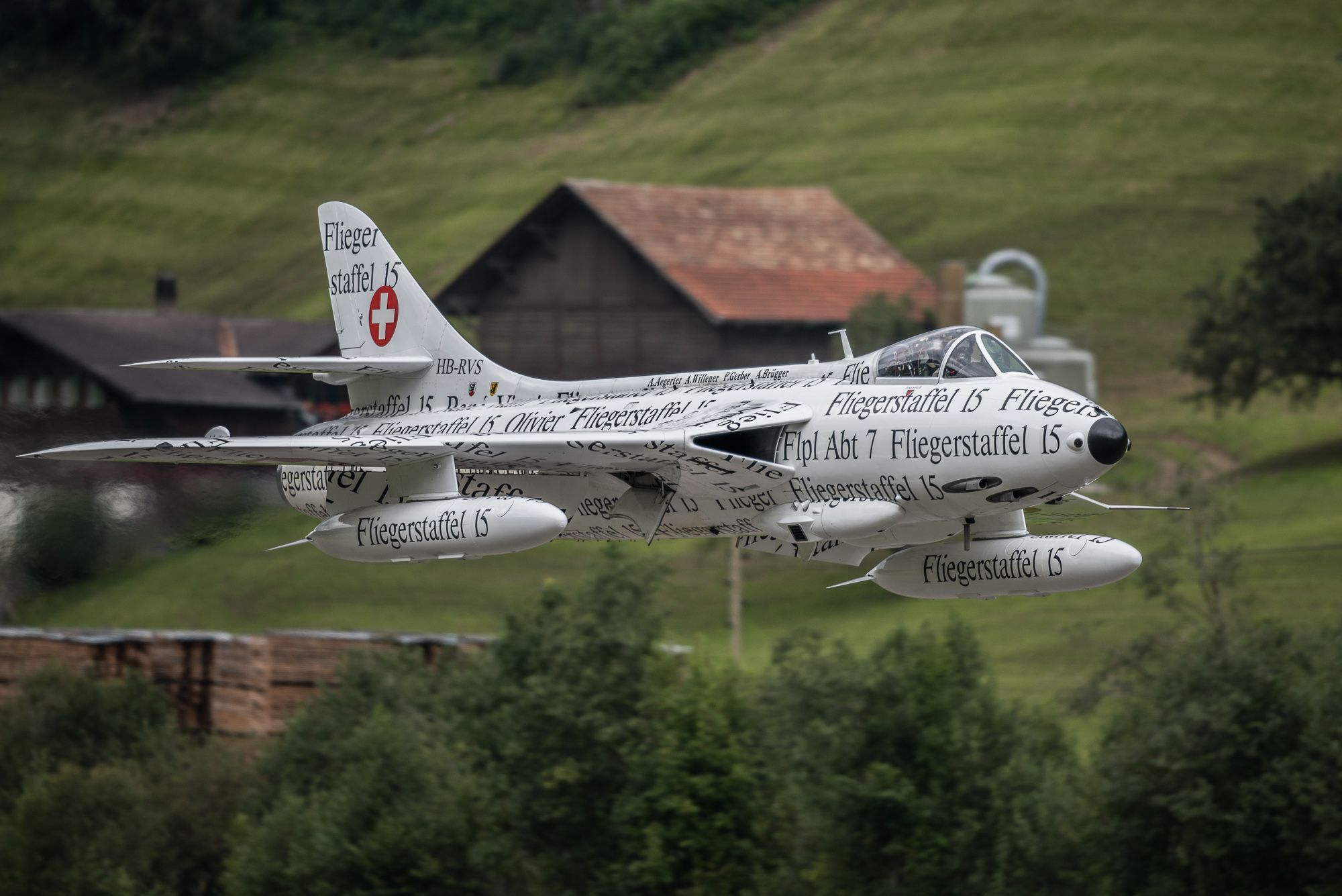 Swiss Air Force Hawker Hunter Aircraft