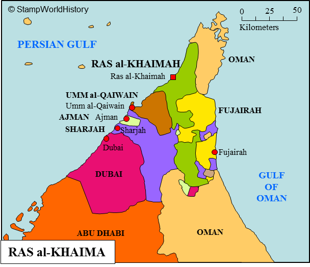 Ras al-Khaimah is an emirate on the Arabian peninsula in western Asia. Ras al-Khaimah is, until 1869, and again from 1900 until 1920, part of the neighboring emirate of Sharjah. As part of Sharjah, Ras al-Khaimah, in 1820, becomes a British protectorate as do other emirates in the region, together called the Trucial States#Sheikh #SheikhSaudBinSaqrAlQasimi #RasAlKhaimah #RAK #SaudBinSaqrAlQasimi