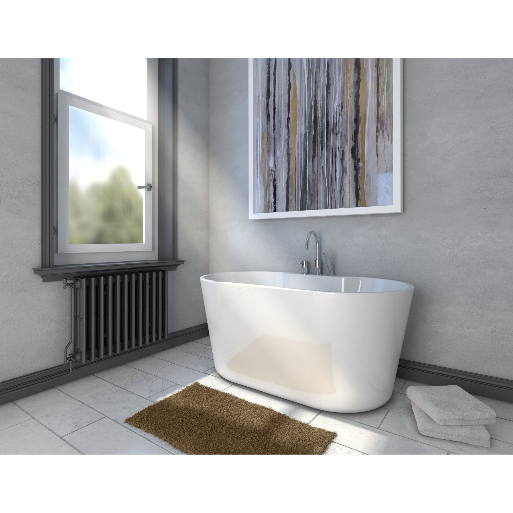 A And E Bath And Shower Retro Free Standing Tub