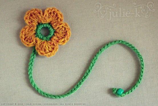 Crochet Flower Bookmark Pattern Kfatbctl Cute Crochet Pinterest