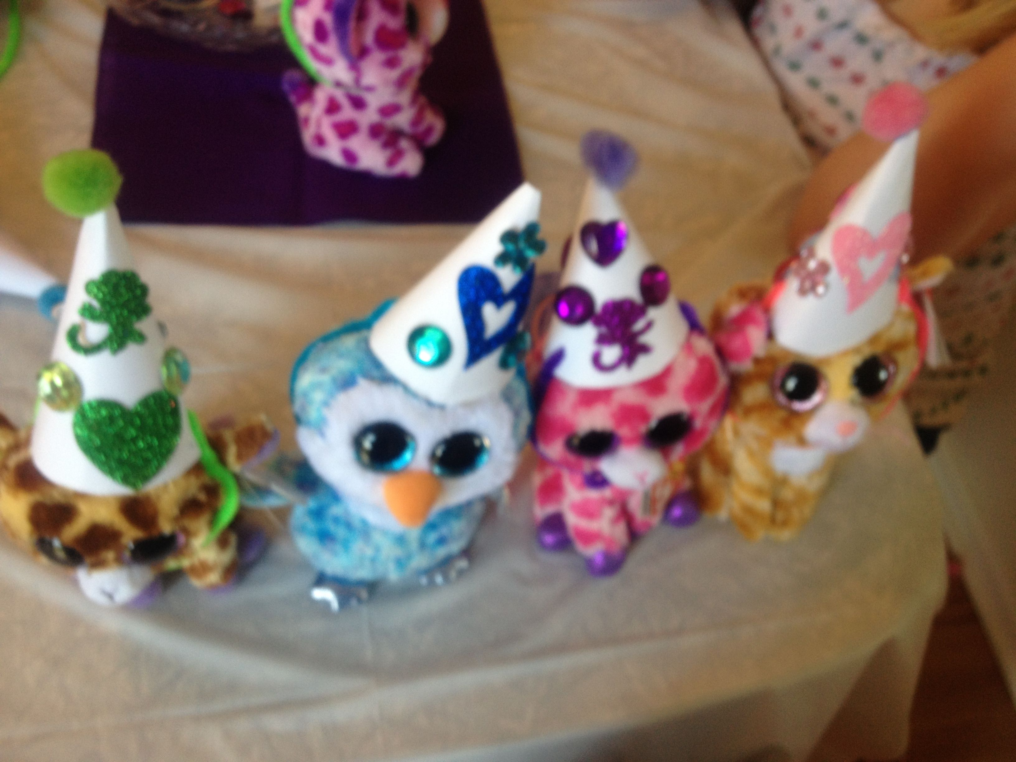 4997d605a9a Making party hats for beanie boos