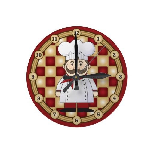 Italian Chef Large Clock Zazzle Com Great Gift Ideas
