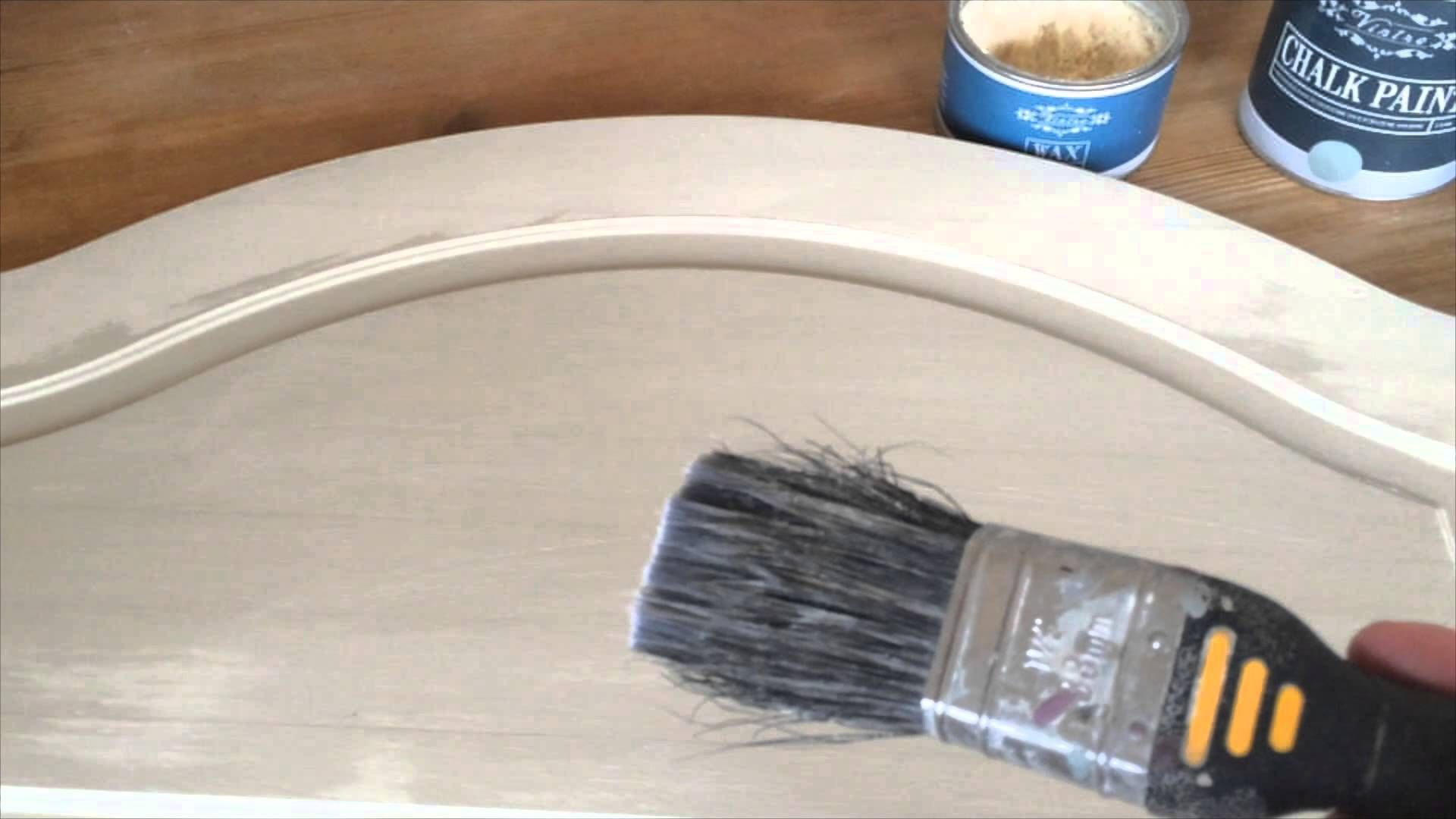 How to use Vintro clear wax over Vintro Chalk Paint - YouTube ...