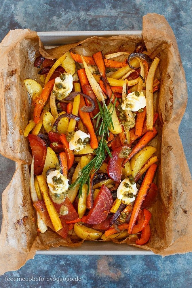 Photo of Cooking for the lazy: colorful winter vegetables from the oven with caper and lemon vinaigrette