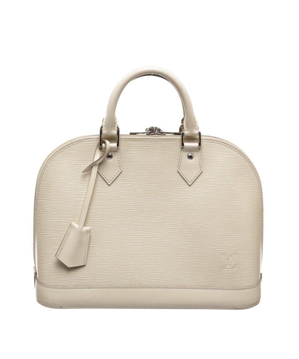 4a35da77d009 LOUIS VUITTON Pre Owned - Louis Vuitton Off White Pearl Vernis Monogram Alma  Pm Handbag .  louisvuitton  bags  leather