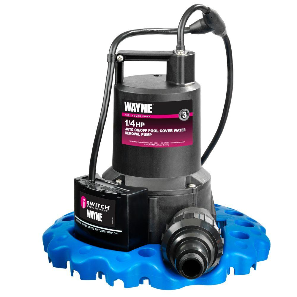 Wayne 1 4 Hp Auto On Off Pool Cover Water Removal Pump Wapc250 The Home Depot Pool Cover Pump Automatic Pool Cover Pool Supplies