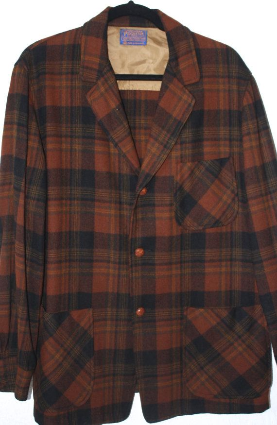 86fac1a43 Early Mens PENDLETON Wool 49er JACKET size by SouthernOwlVTG ...