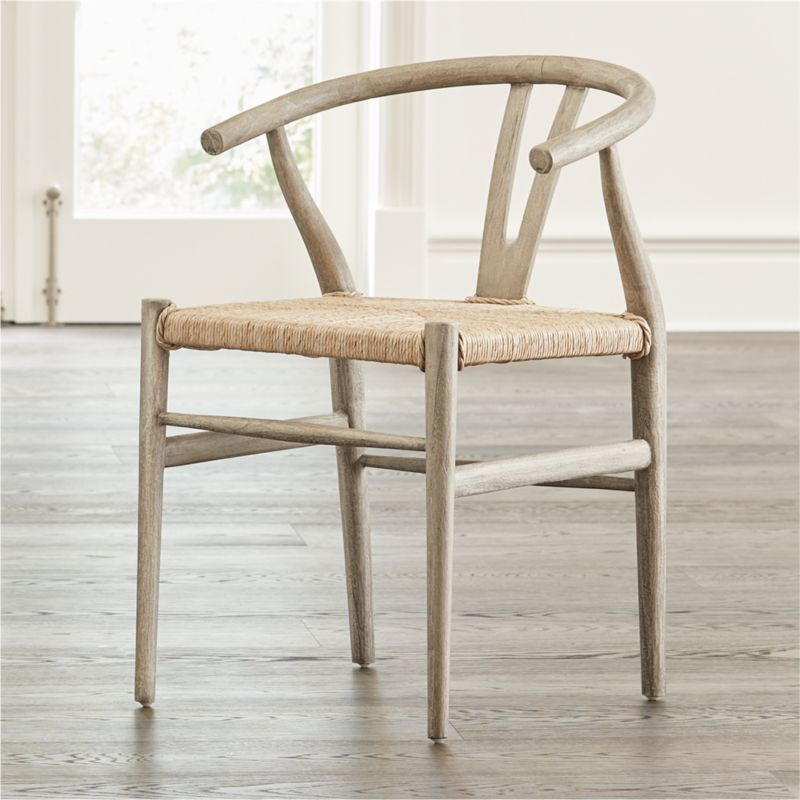 Shop Crescent Weathered Grey Dining Chair Inspired By Traditional Chinese Design This Modern De Rattan Dining Chairs Gray Dining Chairs Outdoor Dining Chairs