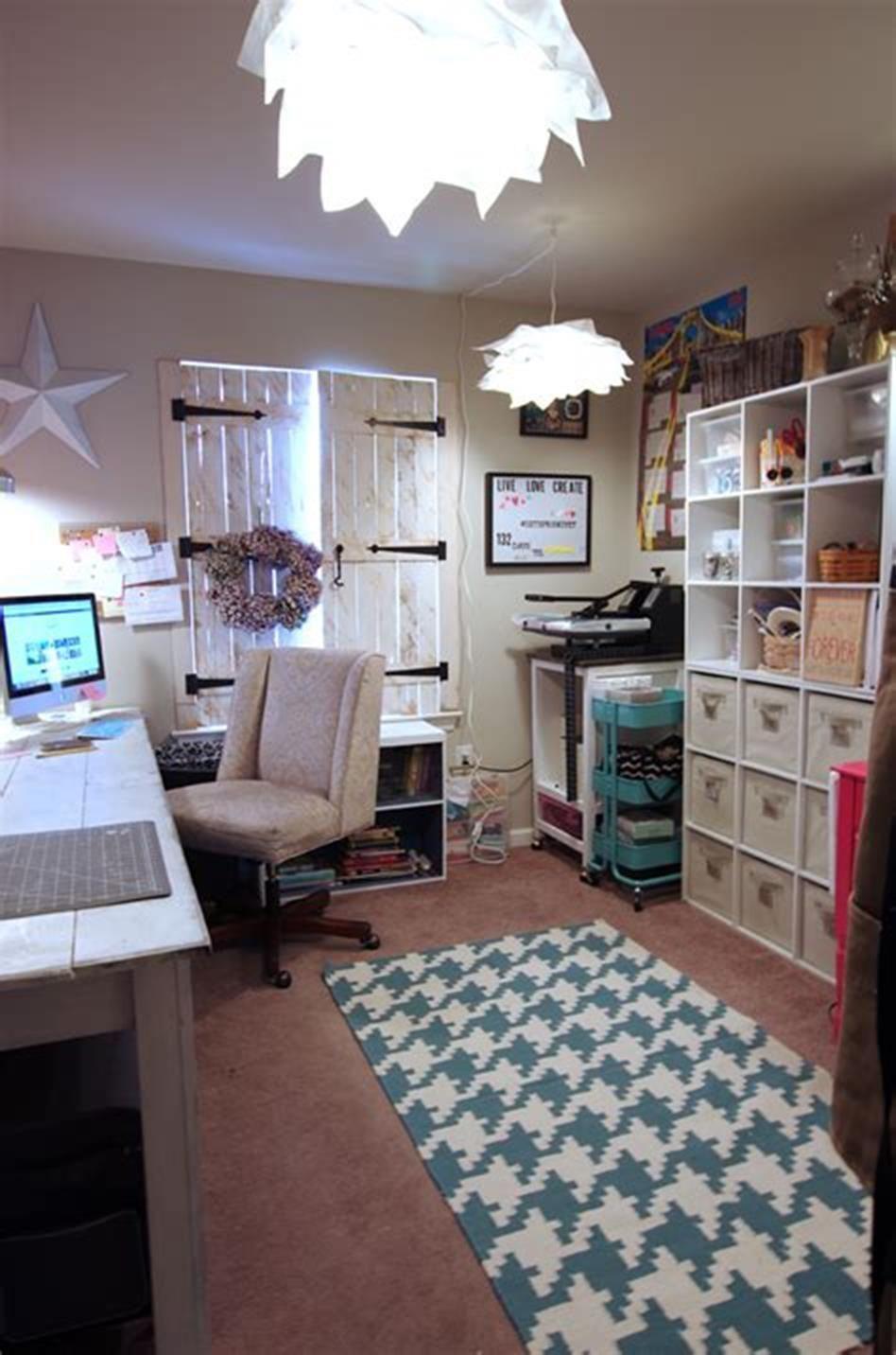 40 Best Craft Rooms Using Ikea Furniture 57 Craft Room Design