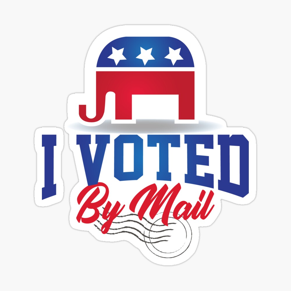 Pin On I Voted By Mail Stickers