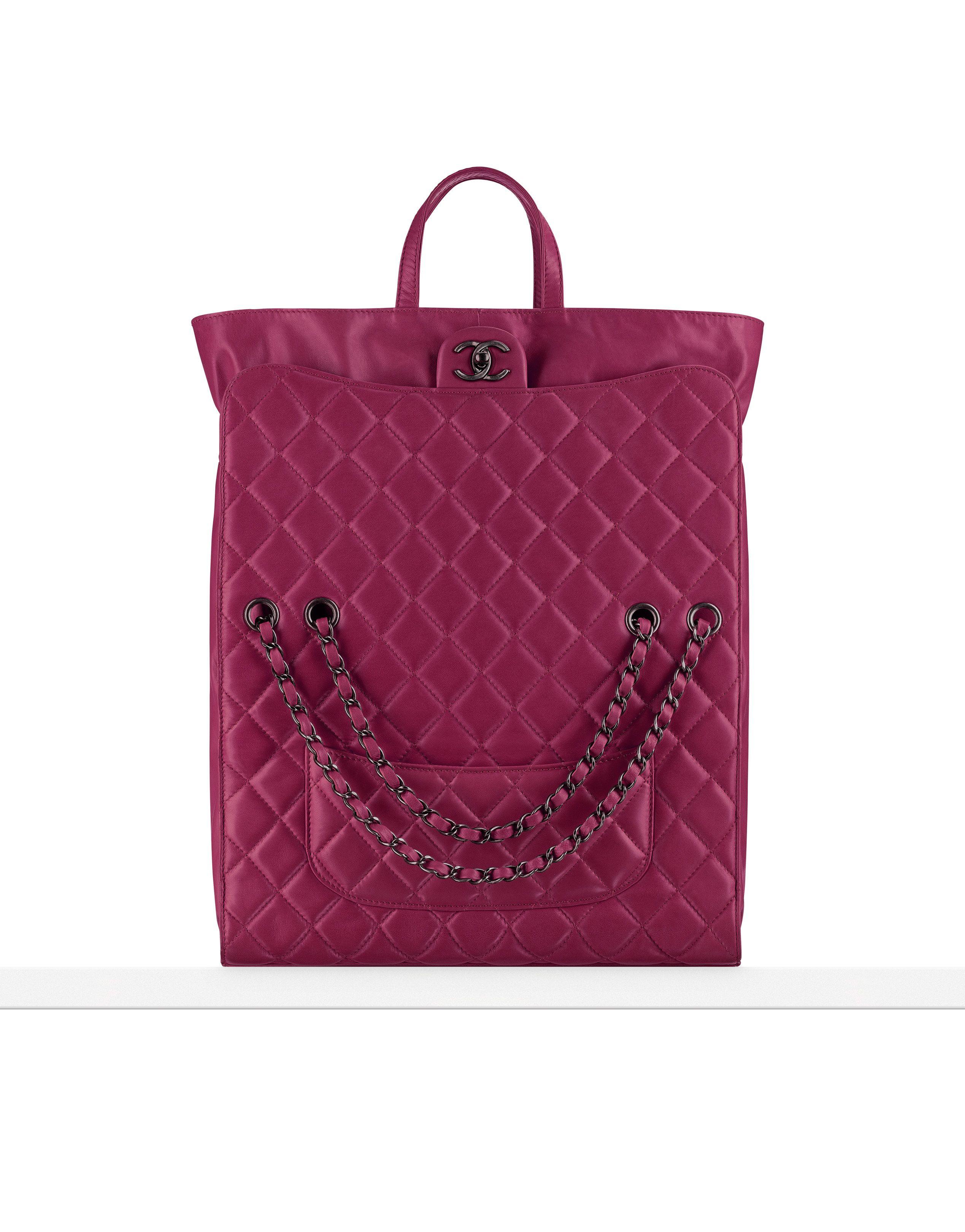 445b98ad577d Sac shopping en agneau muni... - CHANEL | #16 | Chanel fashion, Bags ...