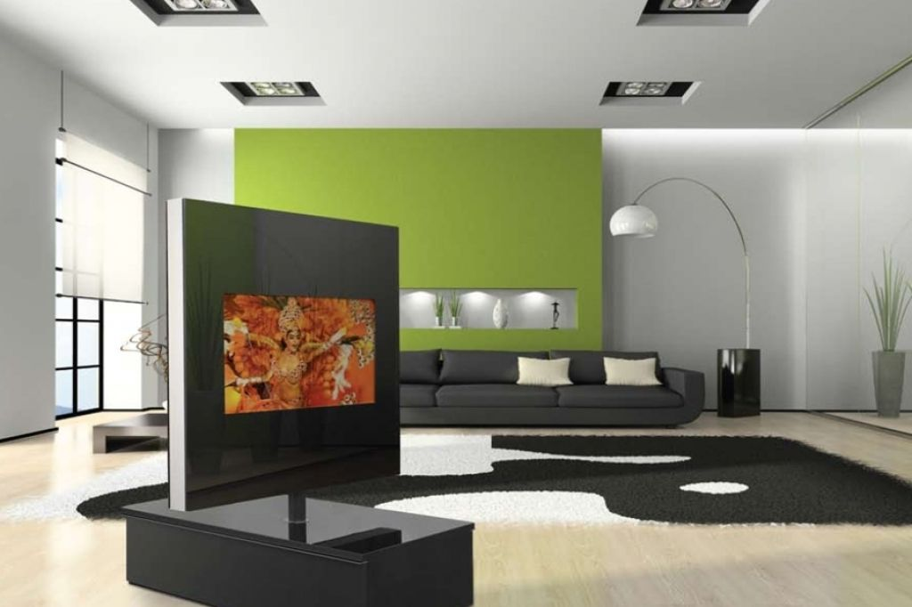 Wohnzimmerwand Modern Design Wohnzimmer Gardinen And