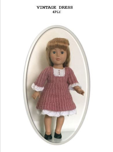 Vintage Dress 4ply Pattern By Una Hendry American Girl Costume
