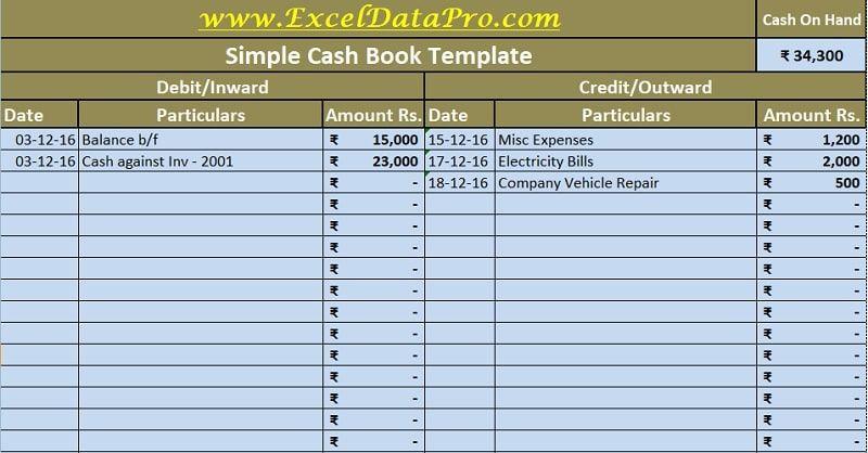Download Cash Book Excel Template Exceldatapro Excel Spreadsheets Templates Excel Templates Excel