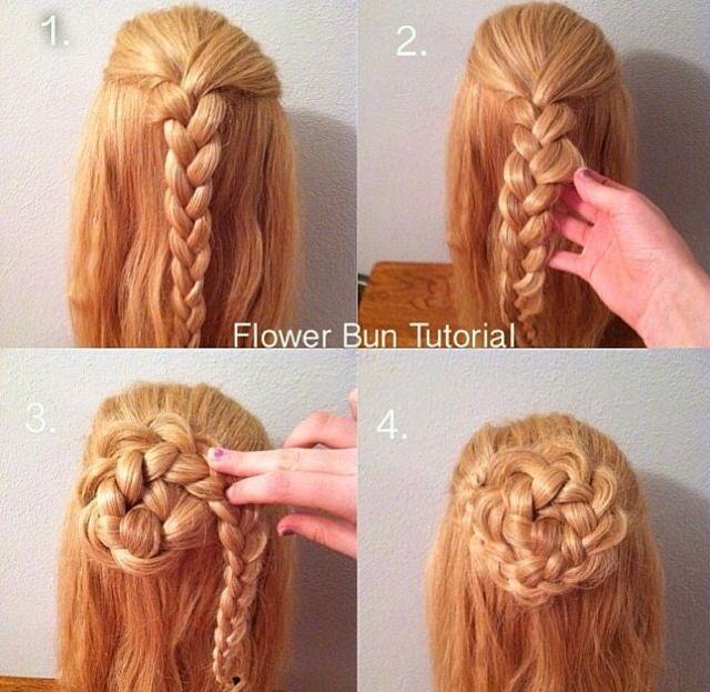 Flower Bun Hair Tutorial Internet Bandhu Hair Styles Flower Bun Hair Tutorial