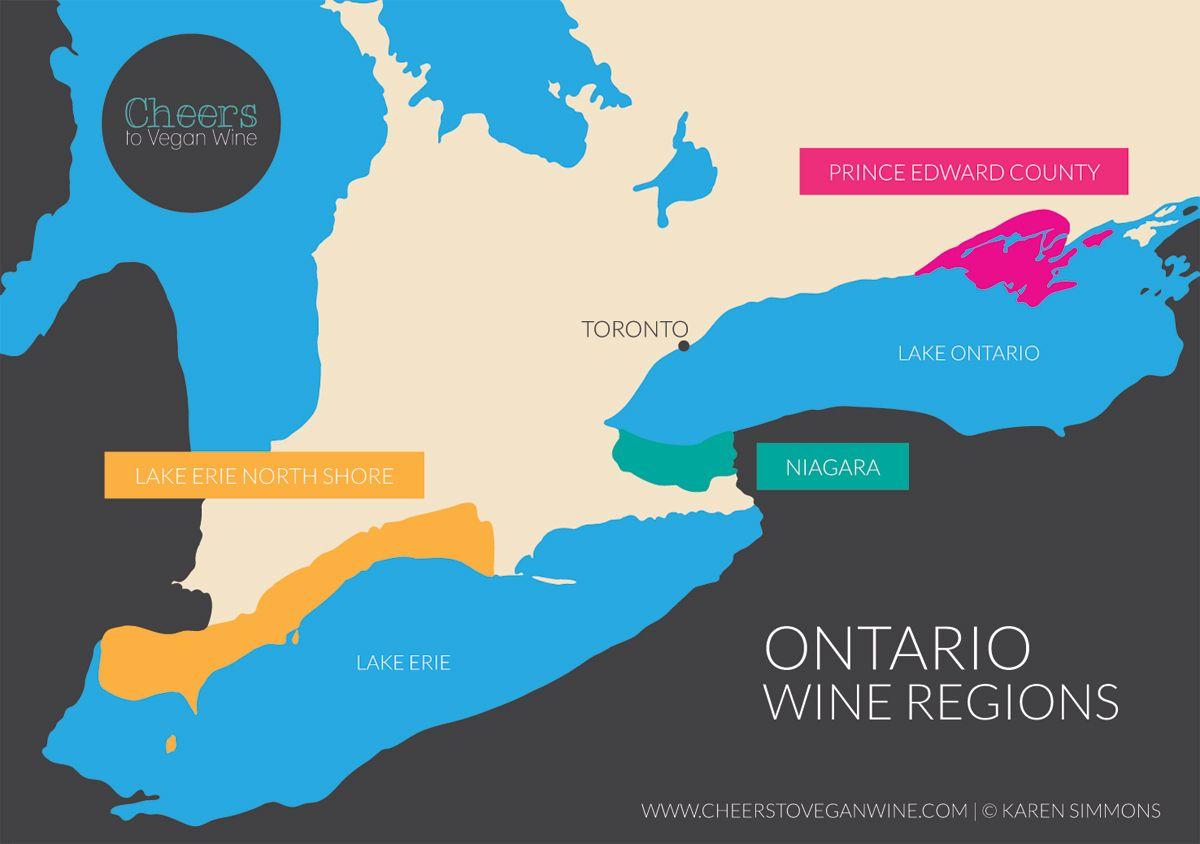 Ontario wine regions map canada pinterest ontario ontario wine regions map gumiabroncs Images