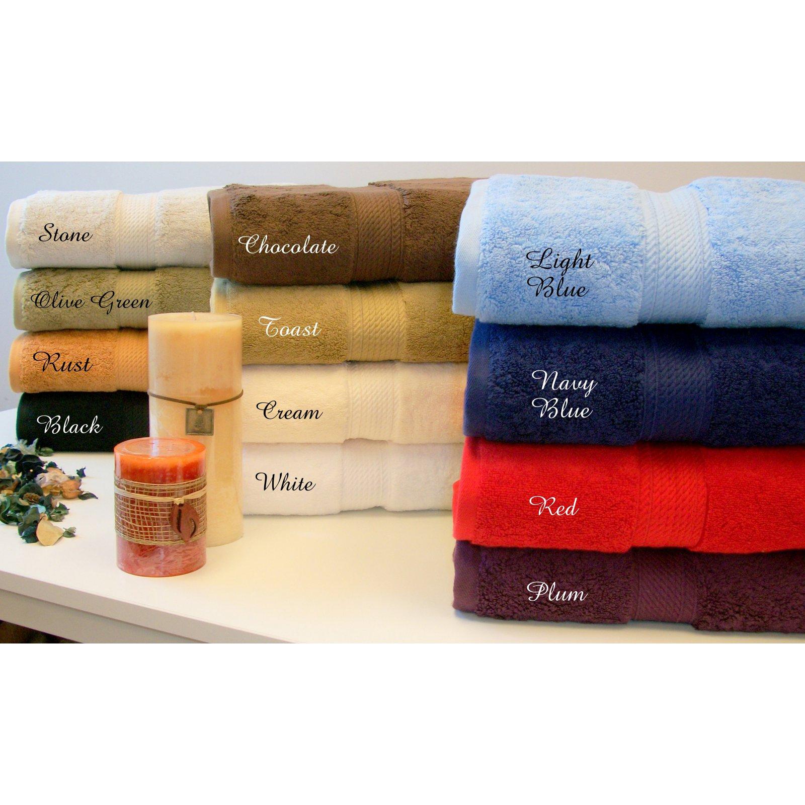 Eluxury 900 Gsm 6 Piece Cotton Towel Set Purple In 2020